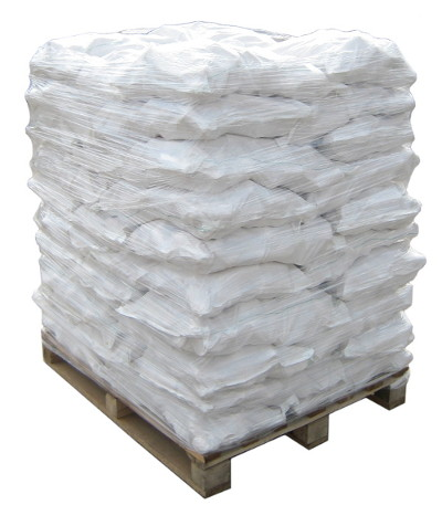 Wood briquette bags on pallet